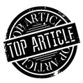 Top Article rubber stamp Royalty Free Stock Photo