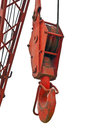 Top beam of crane mobile close up at Royalty Free Stock Image