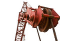 Top beam of crane mobile close up at Stock Image