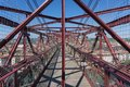 On top of the bizkaia suspension bridge detailed view in portugalete Stock Photos