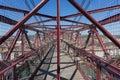 On top of the Bizkaia suspension bridge Royalty Free Stock Photo