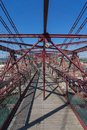 On top of the bizkaia suspension bridge detailed view in portugalete Stock Photo