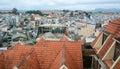 Top of the brick house in Dalat city, Vietnam