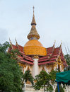 The top of budda temple of royal monastery wat chuai mongkong in pattaya thailand Royalty Free Stock Images