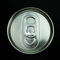 top of can isolated on black background Royalty Free Stock Photo