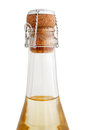 Top of a champagne bottle isolated on white background Stock Photography