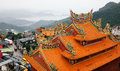 Top of chinese temple in jiufen taiwan Royalty Free Stock Images