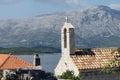 Top of the church in lumbarda Stock Images