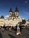 Top europe city prague tourism in one of the most popular cities in the old town square in czech republic in the background is one Royalty Free Stock Photo