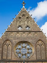 Top of the facade of the Hall of Knights in The Hague, Netherlan Royalty Free Stock Photo