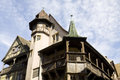 The top of famous renaissance house in colmar france is known as maison pfister Royalty Free Stock Photography
