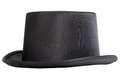 Top hat black isolated on white background Royalty Free Stock Image