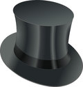 Top hat isolated black vector illustration Stock Images