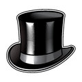 Top hat men clothing retro fashion gentleman Royalty Free Stock Image