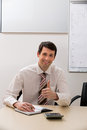 Top manager smiling. Royalty Free Stock Photo