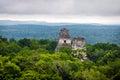 Top of mayan temples at Tikal National Park - Guatemala Royalty Free Stock Photo