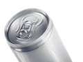 Top of metal aluminum beverage drink can on white background Royalty Free Stock Image