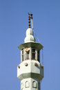 Top of minaret on an old mosque in istanbul turkey Stock Image