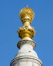 Top of Monument to the Great Fire of London Royalty Free Stock Photo