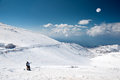 The top of mount hermon northern israel highest point border with syria ski center Royalty Free Stock Images