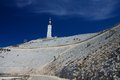 At top of the mountain Mont Ventoux Royalty Free Stock Photo