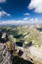 On top of the mountain peak high tatras slovakia eu Royalty Free Stock Photos