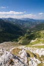 On top of the mountain peak high tatras slovakia eu Royalty Free Stock Images