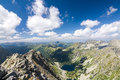 On top of the mountain peak view summer mountains high tatras slovakia europe Royalty Free Stock Image