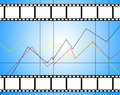 Top movies diagram background of with with empty place for pictures Royalty Free Stock Images