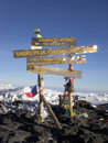 Top Mt. Kilimanjaro, the roof of Africa Stock Photos