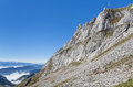 Top of the mt pilatus switzerland Royalty Free Stock Images