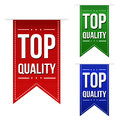 Top quality banner design set over a white background vector illustration Stock Image
