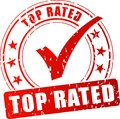 Top rated red stamp