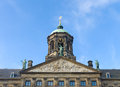 Top of the royal palace on the dam square in amsterdam Royalty Free Stock Images