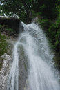 Top of salino waterfall the the in friuli north east italy in the carnia alps alpi carniche Royalty Free Stock Photos