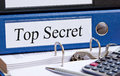 Top secret binder in office Royalty Free Stock Photo