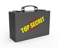 Top secret concept suitcase containing document Royalty Free Stock Photography