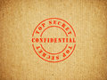 Top secret confidential box background Stock Images