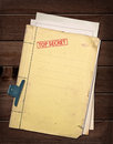 Top secret file. Royalty Free Stock Photo