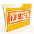 Top secret file shows private folder or files showing Stock Images