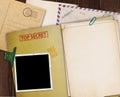 Top secret folder. Royalty Free Stock Photo