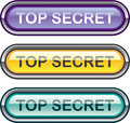 Top Secret Glossy Button Royalty Free Stock Photo