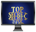 Top secret loss of confidential informations due to data leak security concept for computers Royalty Free Stock Photo