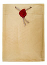Top secret mail with rope and wax seal Royalty Free Stock Photo