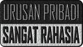 Top secret private business in Indonesia language