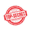 Top secret rubber stamp Royalty Free Stock Image