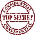 Top secret stamp Stock Photo