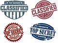 Top Secret Stamps Royalty Free Stock Images