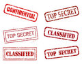 Top secret stamps Stock Images
