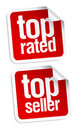 Top seller stickers Royalty Free Stock Image